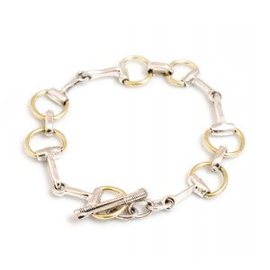 HiHo Silver Two Tone Snaffle Bracelet