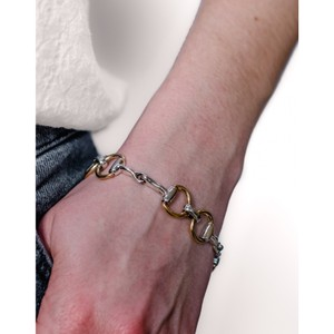 HiHo Silver Two Tone Snaffle Bracelet Two Tone