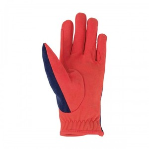 Hy Equestrian Thelwell Collection Gloves - Navy/Red