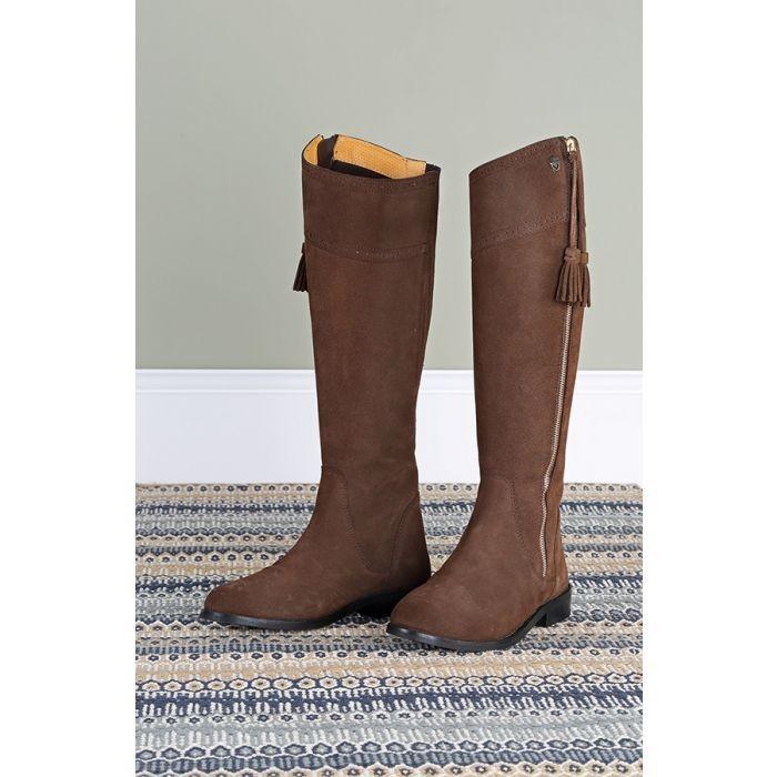 Moretta Florenza Suede Boots in Brown