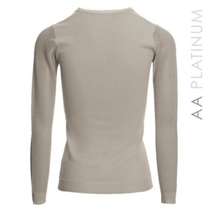 Alessandro Albanese Ladies Sweater with Perforated Sleeves -  Blue