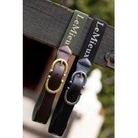 LeMieux Elasticated Belt - Oak Green in Oak/Green
