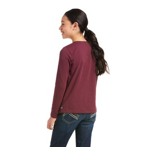 Ariat Kids Flower Crown Long Sleeve T-Shirt - Windsor Wine