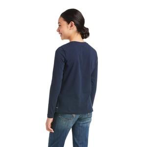 Ariat Kids Int'L Logo Long Sleeve T-Shirt - Navy
