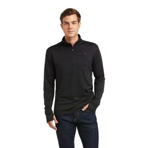 Ariat Men's Gridwork ¼ Zip Baselayer - Black in Black