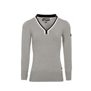 Alessandro Albanese Vienna VNeck Sweater - Grey Melange in Grey Melange