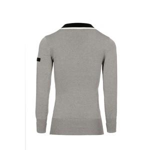 Alessandro Albanese Vienna VNeck Sweater - Grey Melange