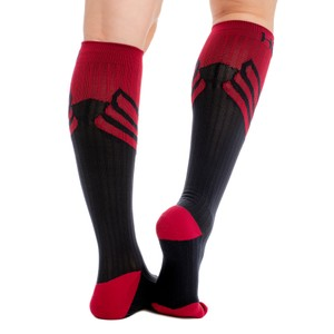 Horseware Sports Compression Sock - Navy/Spiced Berry in Navy/Spice