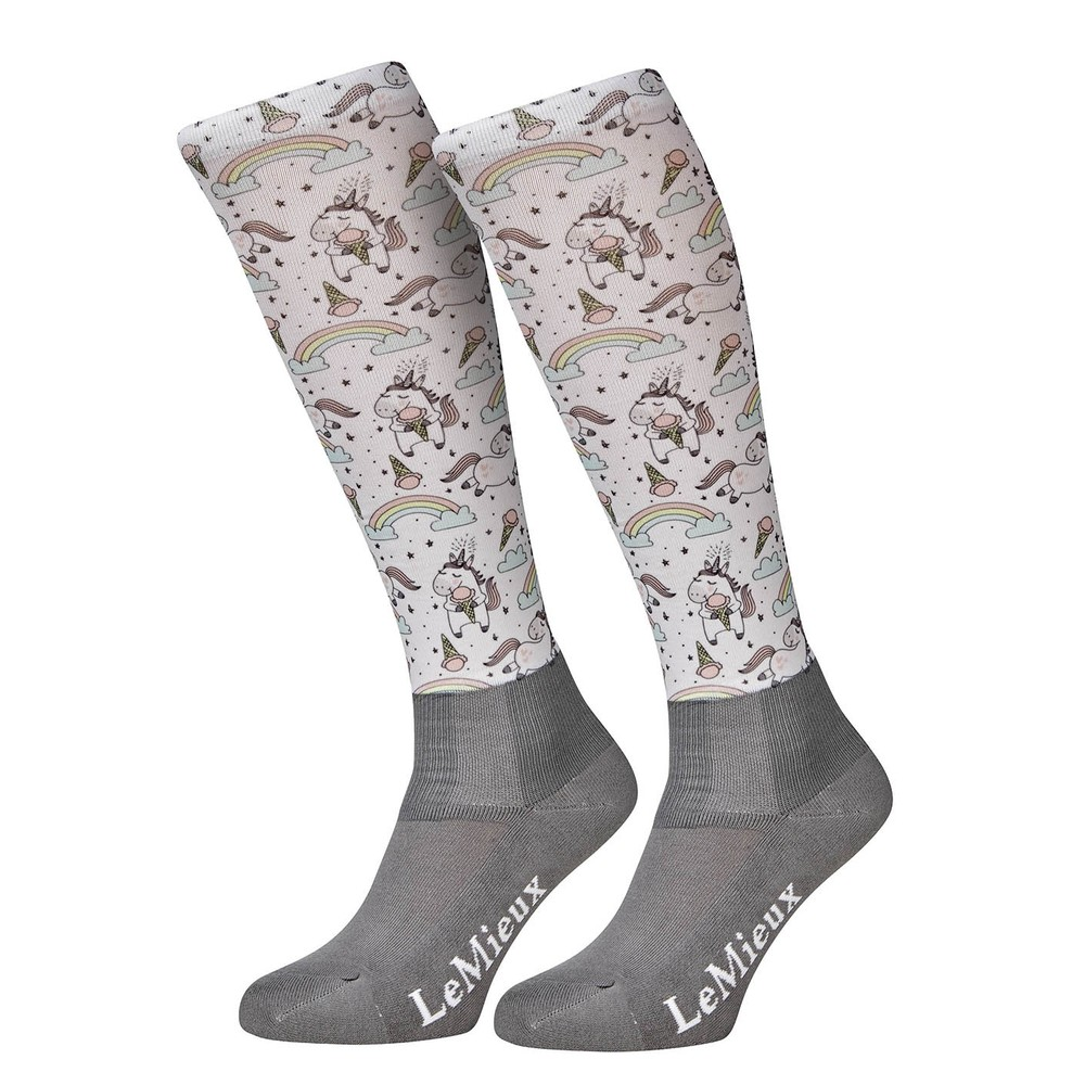 LeMieux Footsies Socks - Rainbow Unicorn Junior in Rainbow Unicorn