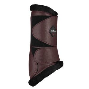 LeMieux Fleece Lined Brushing Boots - Rioja in Rioja