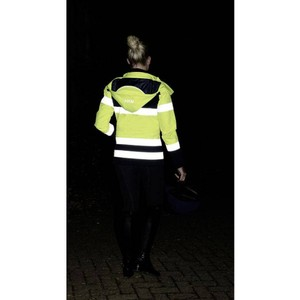 HKM Hi Vis Jacket -Safety in Neon Yellow/Silver