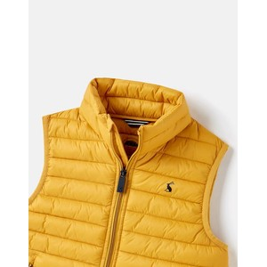 Joules Crofton Packable Showerproof Padded Gilet - Antique Gold