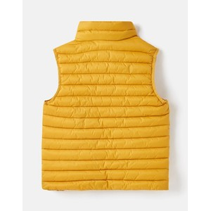 Joules Crofton Packable Showerproof Padded Gilet - Antique Gold in Antique Gold