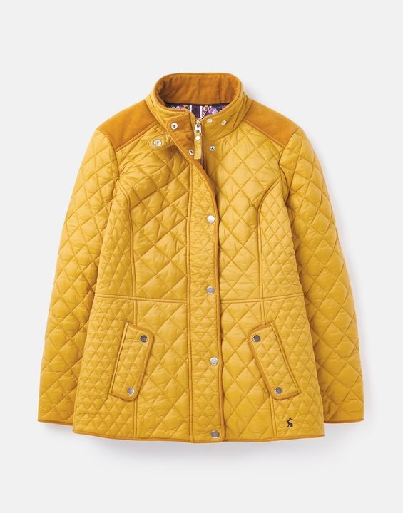 Joules Newdale Quilted Jacket - Caramel in Caramel