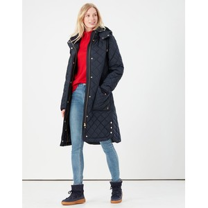 Joules Chatham Quilted Coat - Marine Navy in Marine Navy