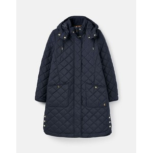 Joules Chatham Quilted Coat - Marine Navy