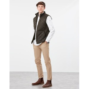Joules Mens Halesworth Quilted Fleece Lined Gilet - Heritage Green in Heritage Green