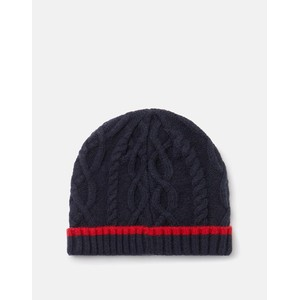 Joules Frosty Cable Knit Hat - French Navy