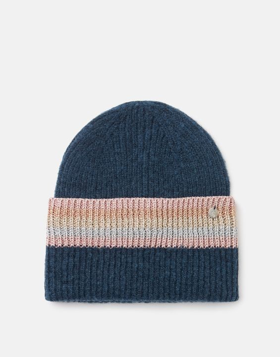 Joules Vinnie Knitted Beanie - French Navy in French Navy
