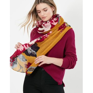 Joules Julianne Scarf - Gold Floral