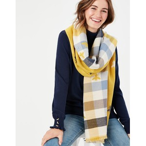 Joules Farnsley Scarf - Gold Bee Check