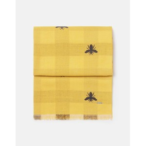 Joules Farnsley Scarf - Gold Bee Check in Gold Bee Check