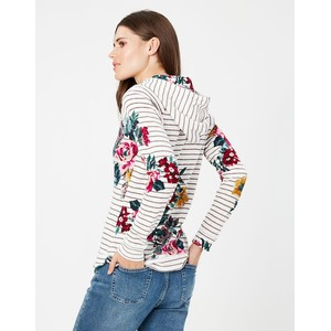 Joules Hooded Sweatshirt  - Grey Stripe in Grey Stripe