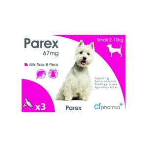 Cf Pharma Parex Spot On - Small Dog (2-10kg) in Unknown
