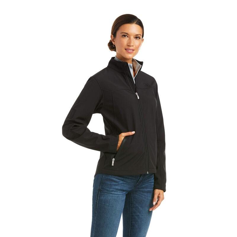 Ariat Women's Team Softshell Jacket - Black in Black
