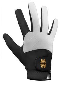 Mac Wet Aquatec Micromesh Equestrian Glove in Black/White