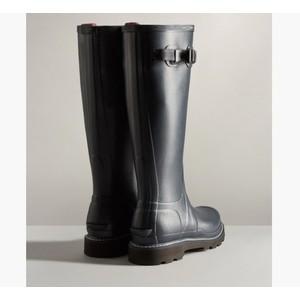 Hunter Women's Balmoral Commando Sole Wellington Boots - Navy/Peppercorn