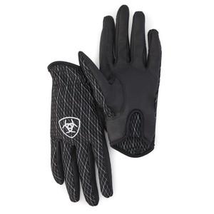 Ariat Adult Unisex Cool Grip Glove - Black White in Black/White