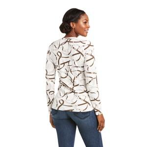 Ariat Women's Bridle Print Long Sleeve T-Shirt - Sea Salt