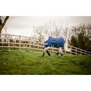 Horseware Amigo Amigo Hero 900 Pony Turnout Medium 200g - Dark Blue/Capri/Raspberry