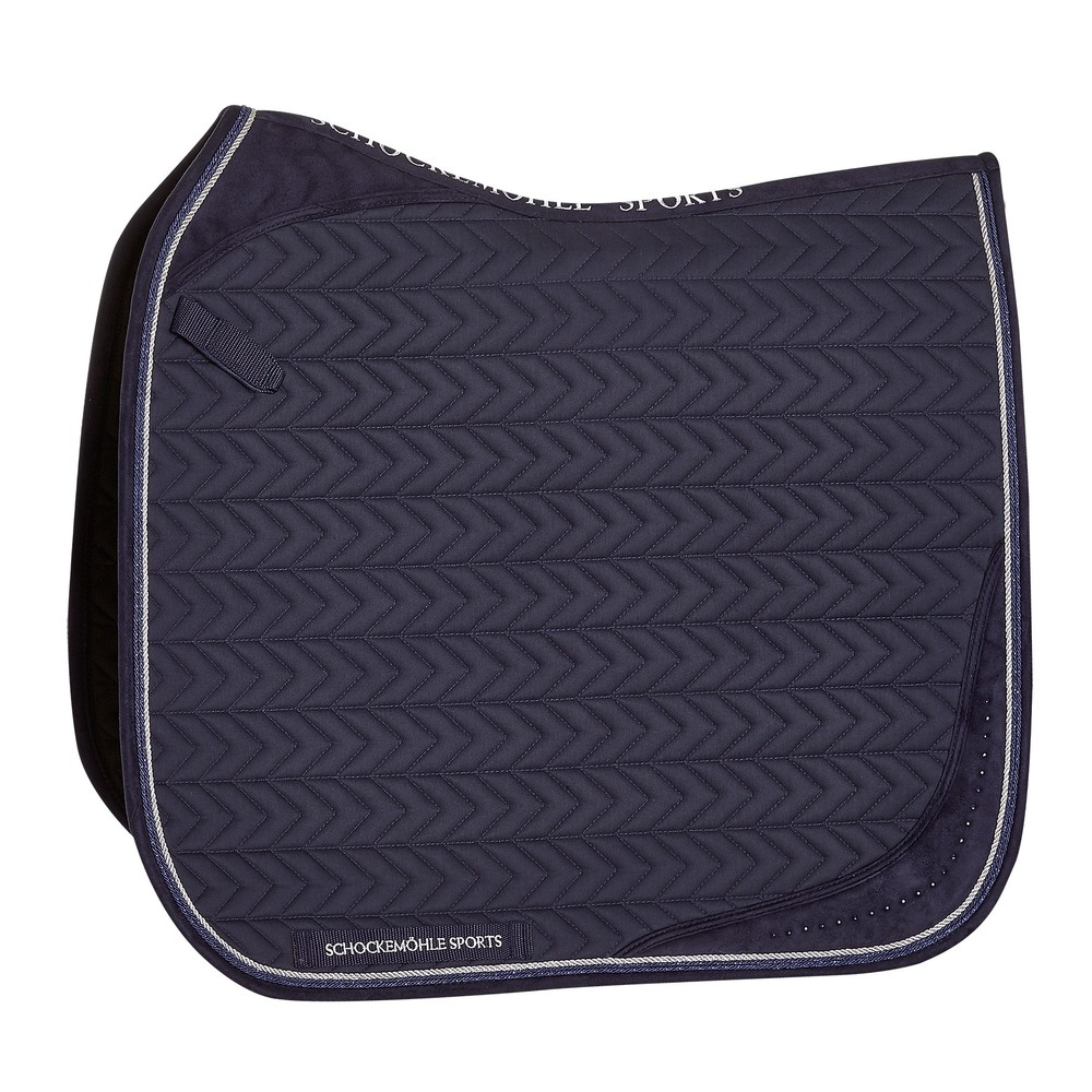Schockemohle Power Pad D Style, Saddle Pad - True Navy in True Navy