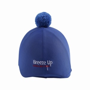 Celtic Equine Supplies Breeze Up Lycra Hat Cover with Bobbin in Royal Blue