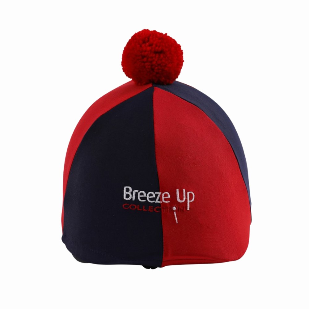 Celtic Equine Supplies Breeze Up Lycra Hat Cover with Bobbin in Black/Red