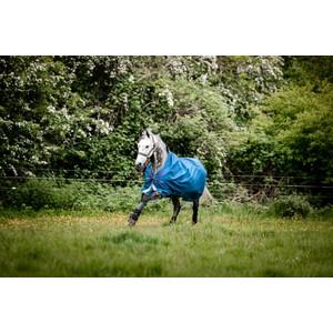 Horseware Rhino RHINO Rug Turnout Lite 0g in Navy/Grey/Aqua