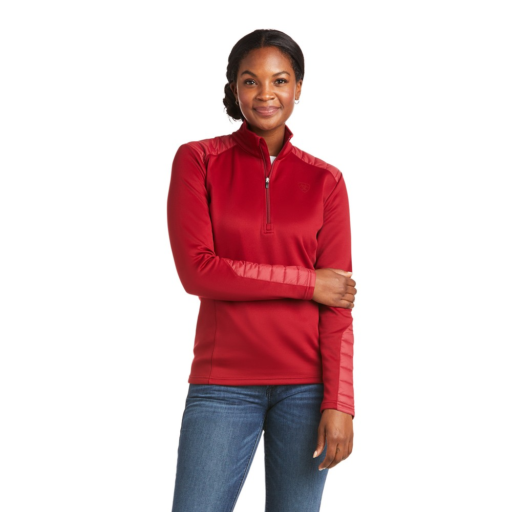 Ariat Women's Ismay ½ Zip Sweatshirt - Rhubarb in Rhubarb