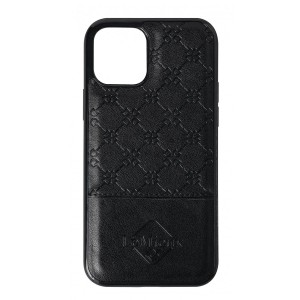 LeMieux Luxury iPhone 12 Case - Black in Black