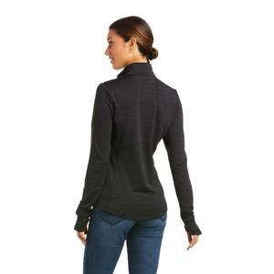 Ariat Women's Gridwork 1/4 Zip Baselayer - Black in Black
