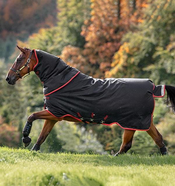 Horseware Amigo Bravo 12 Plus Heavy 400g TEW Special in Black/Red