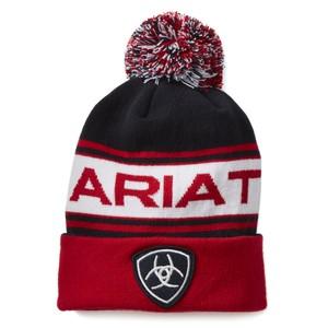 Ariat Team Beanie - Navy/Red in Navy/Red